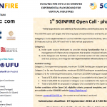 1st 5GINFIRE Open Call – phase 2 – launched